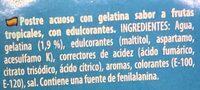 Gelatina sabor tropical - Ingredients - es