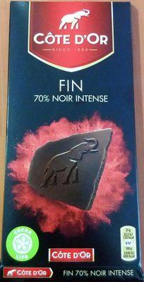 Chocolat 70% noir intense Côte d'Or - Product