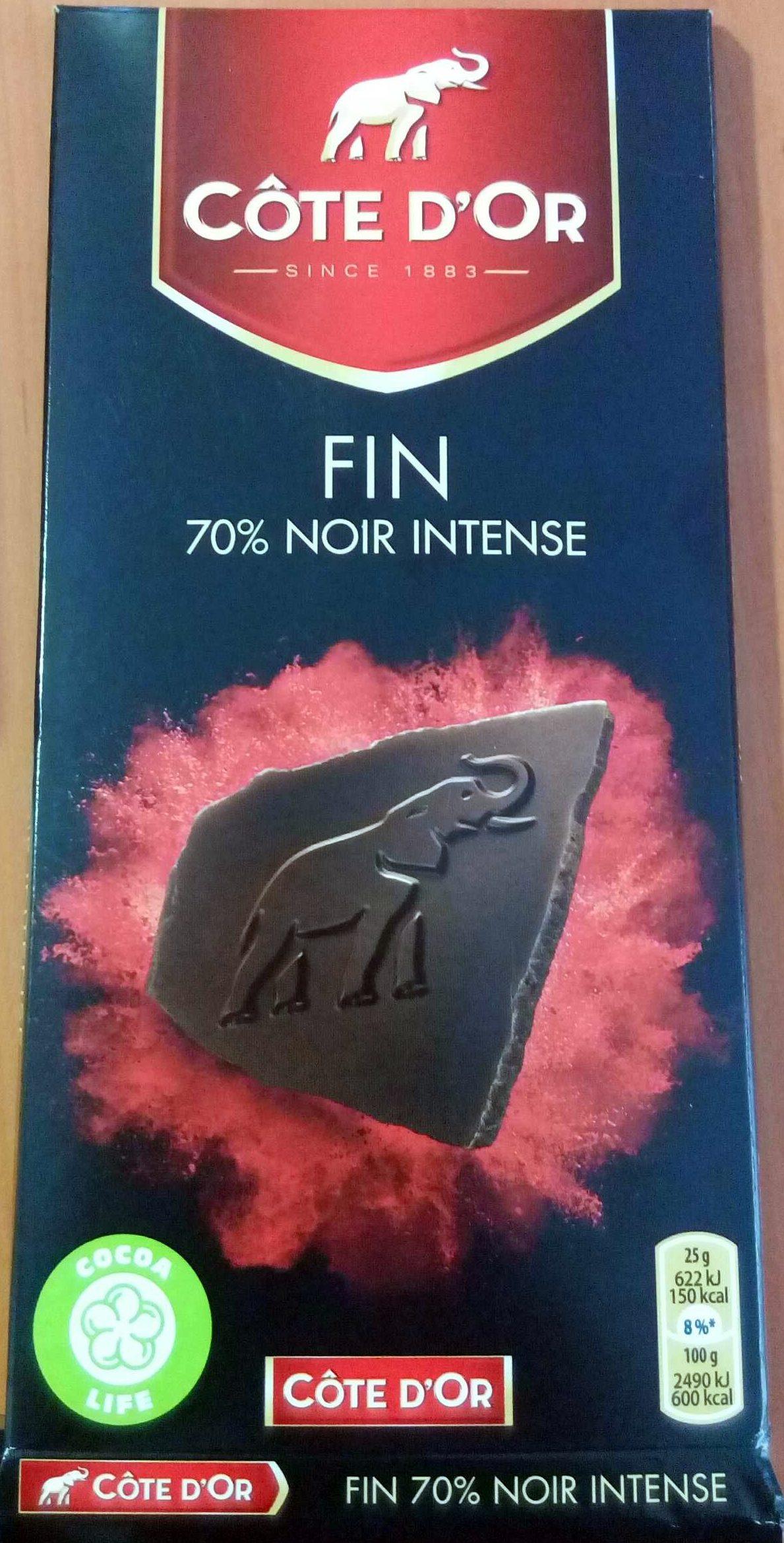 Chocolat 70% noir intense Côte d'Or - Produkt - fr