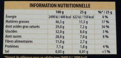 Chocolat 70% noir intense Côte d'Or - Nutrition facts