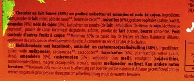 Double lait praliné - Ingrediënten