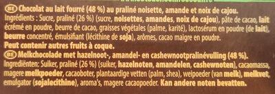 Double lait praliné - Ingrédients - fr
