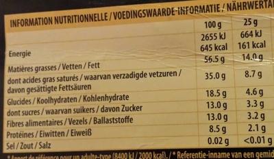 Fin 86% Extra noir - Nutrition facts