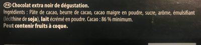 noir intense 86% - Ingredients