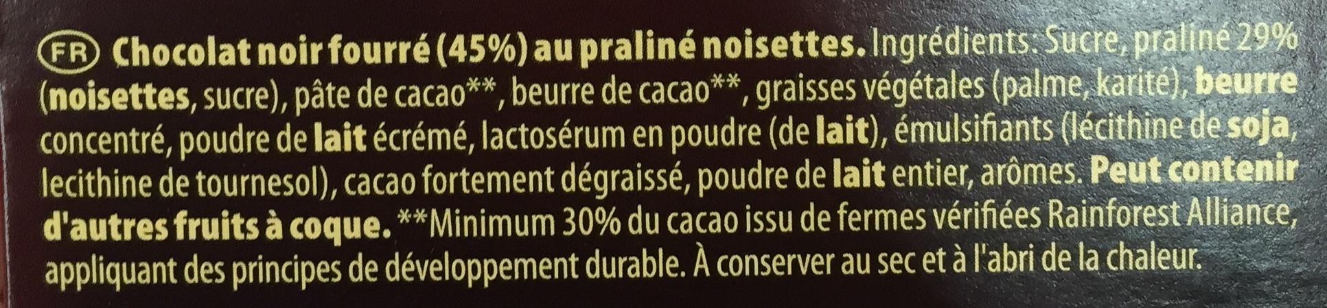 Praliné Fondant Noir - Ingredients - fr