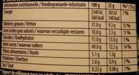 Noir de Noir - Informations nutritionnelles - fr