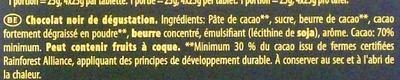 70% Noir Intense - Ingrediënten