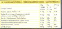 70% Noir Intense - Voedingswaarden