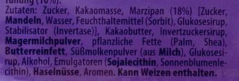 Milka Marzipan-Creme - Ingrédients