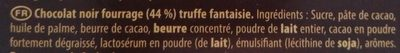 Truffé Noir - Ingredients