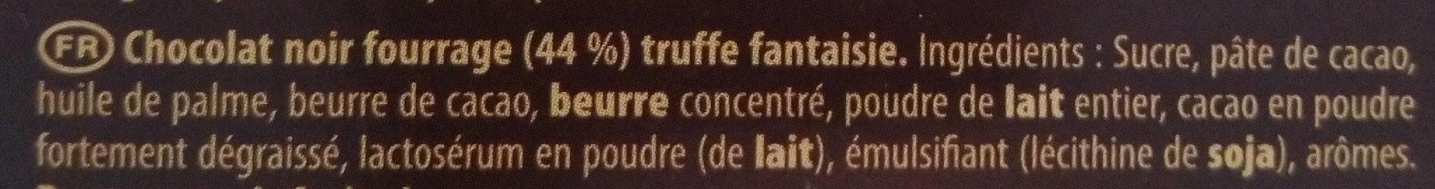Truffé Noir - Ingrédients