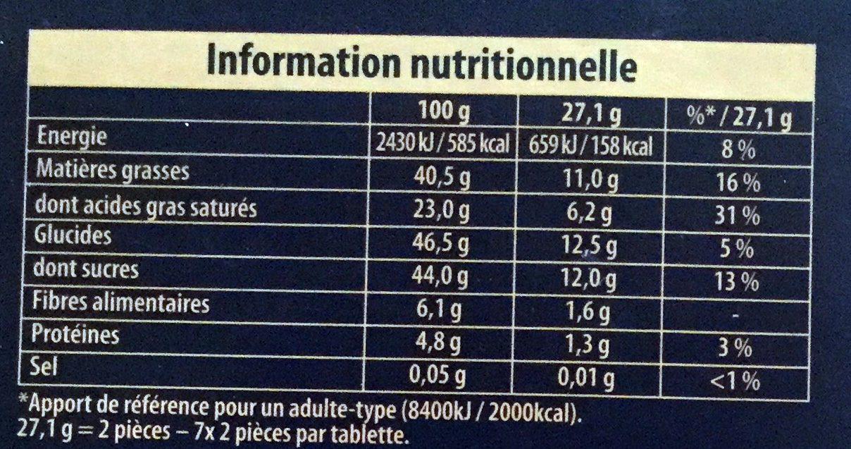 Truffé Noir - Informations nutritionnelles