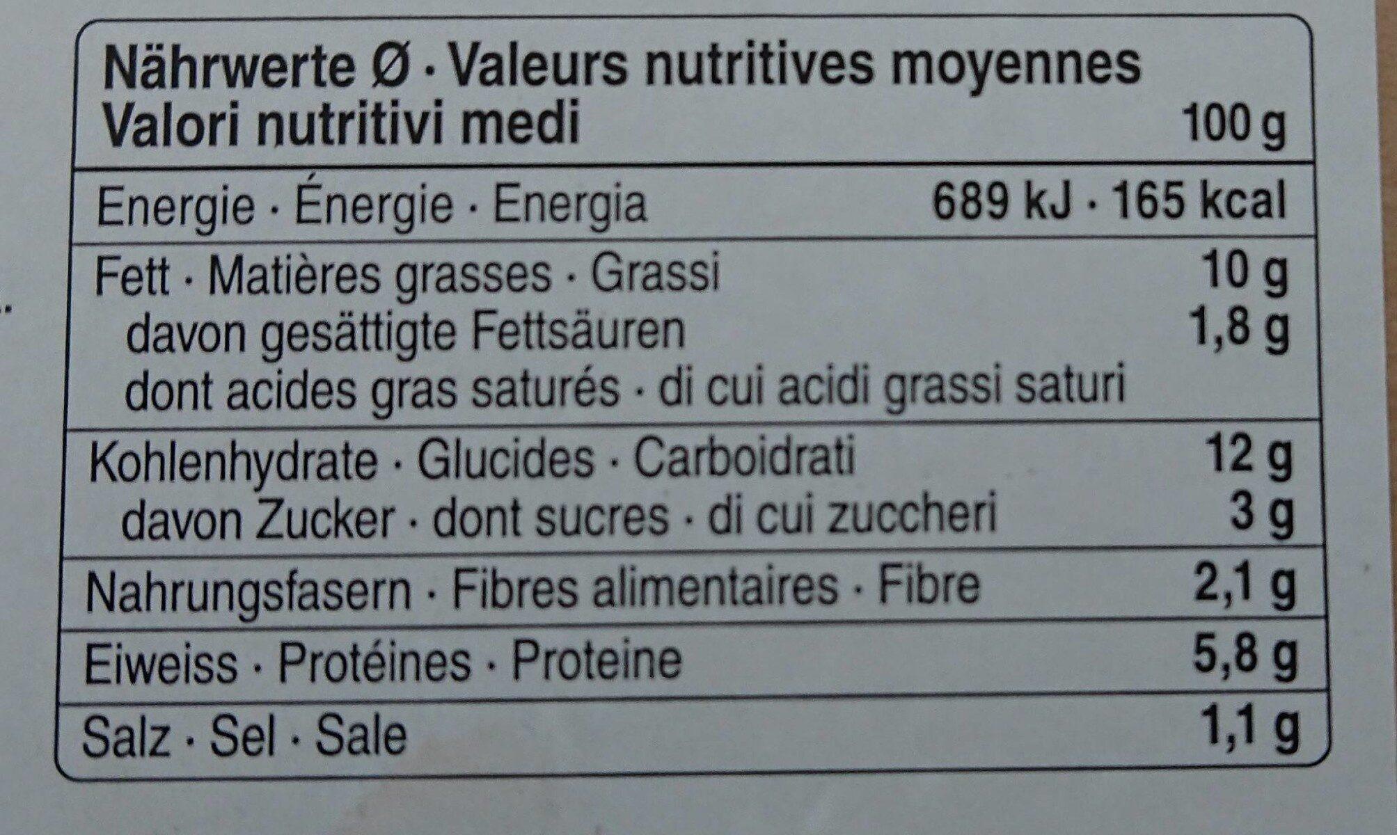 Salade de lentilles, courge, betterave rouge et quinoa - Informazioni nutrizionali - fr