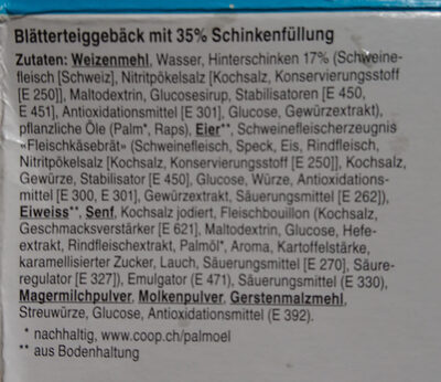 Mini Schinkengipfeli - Ingrédients - de