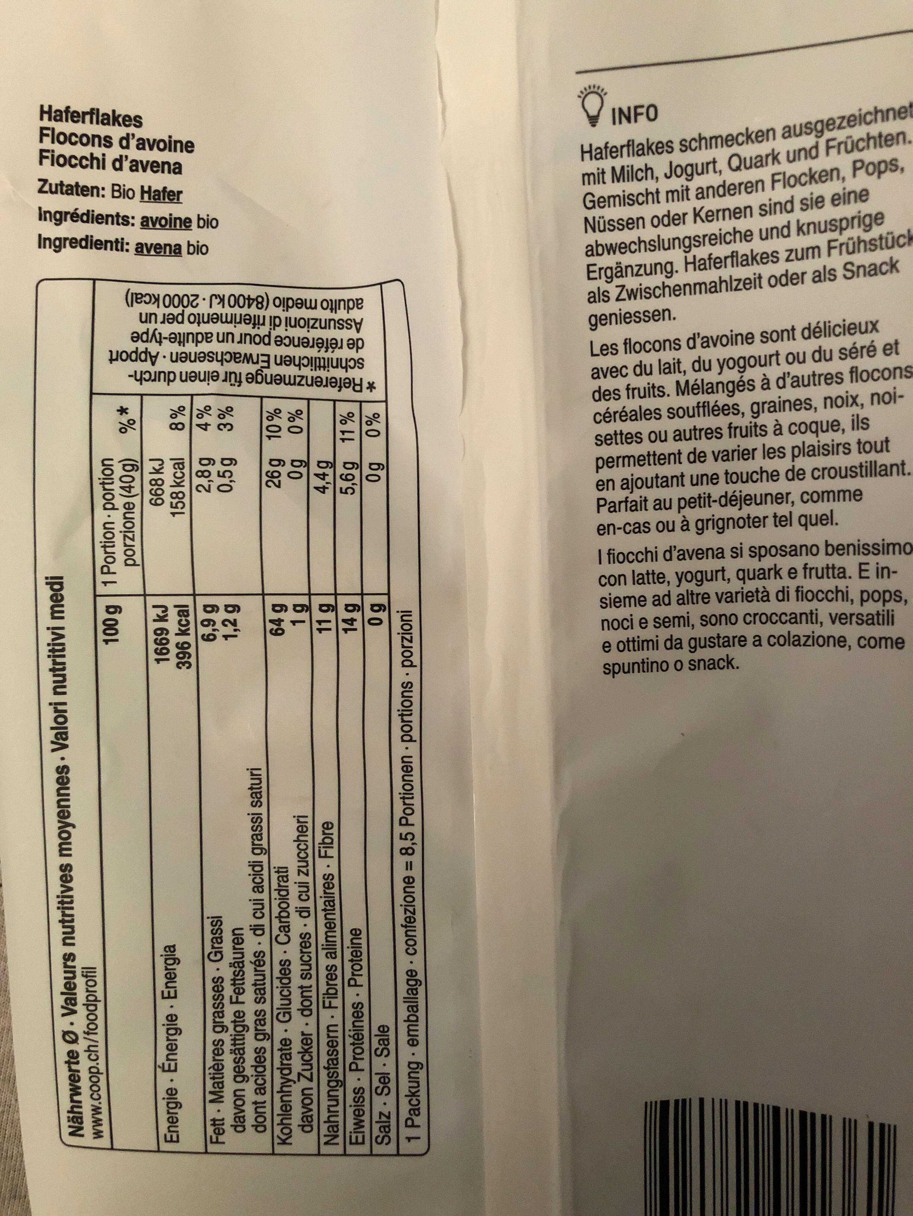 Haferflakes - Ingredients