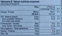 Veggie Stars - Nutrition facts
