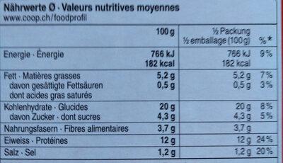 Veggie Stars - Nutrition facts - de