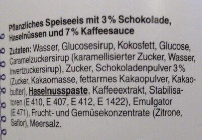 Gianduja Freeze - Ingredients - de