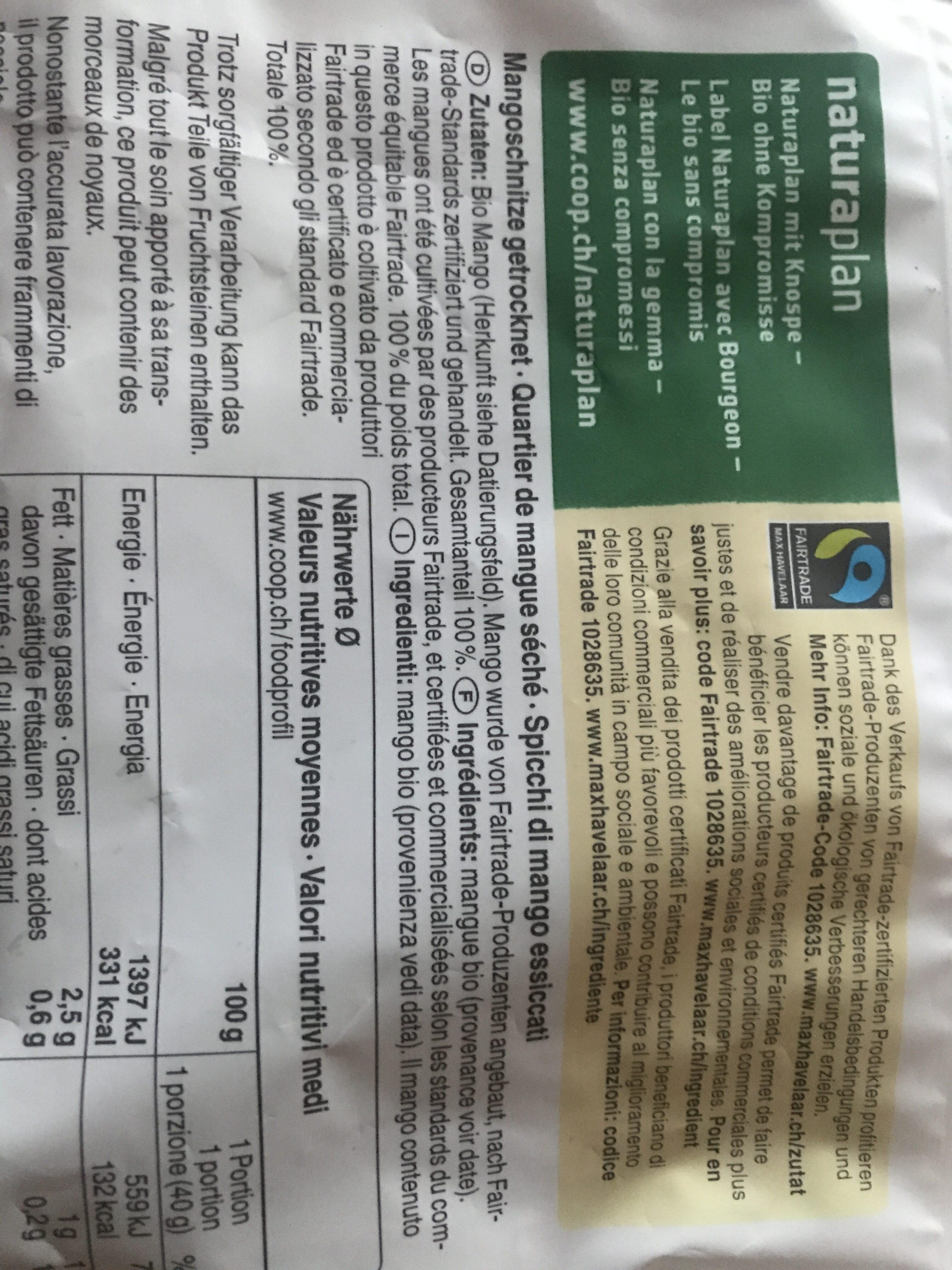 Mangue - Ingredienti - fr