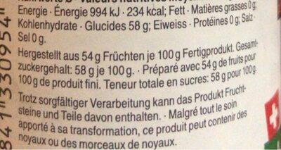 Confiture Cerises - Informazioni nutrizionali - fr