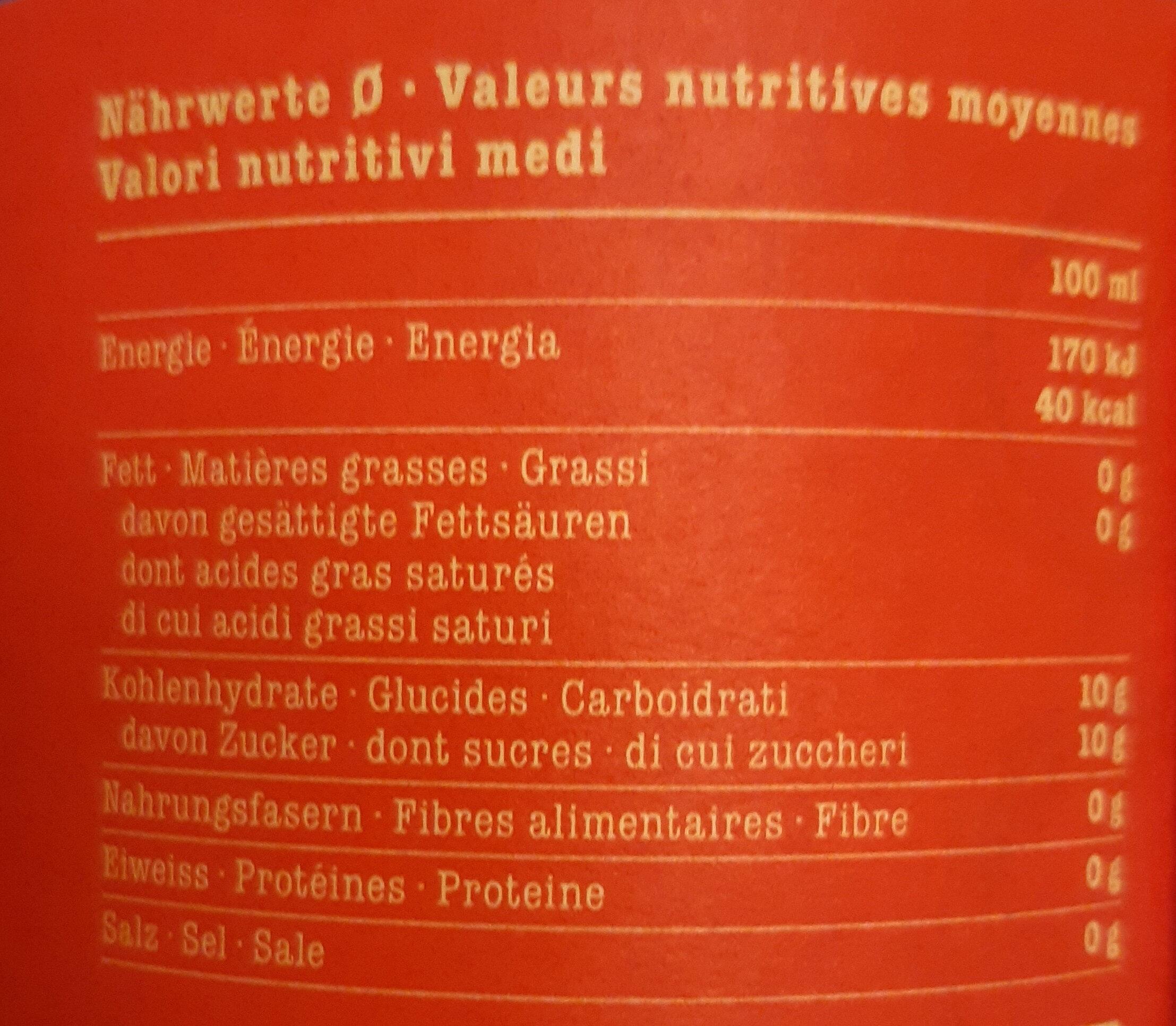 Happy cola classic - Valori nutrizionali - fr