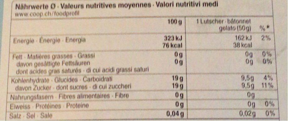 misty sluch - Valori nutrizionali - fr