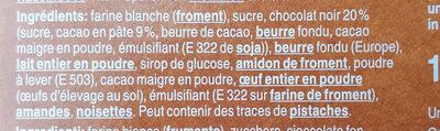 Biscuits au chocolat pour le café - Ingredients - fr