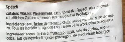 Spätzli - Ingredienti - it