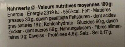 Swiss Rock Honey & Almond - Voedingswaarden - fr