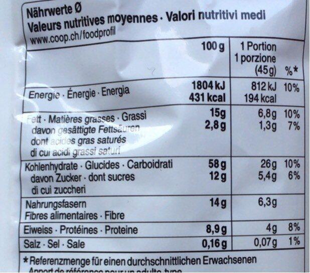 Crunchy Müesli Wild Berries - Informazioni nutrizionali - fr