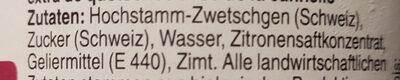 Zwetschgen-Zimt - Ingredienti - de