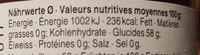 Zwetschgen-Zimt - Informazioni nutrizionali - de