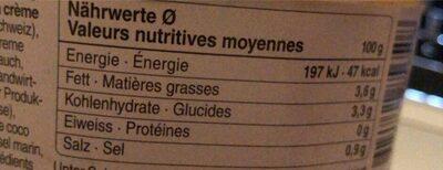 Souoe a la courge bio - Nutrition facts - fr