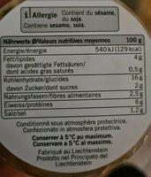 Asian Quinoa - Informazioni nutrizionali - fr