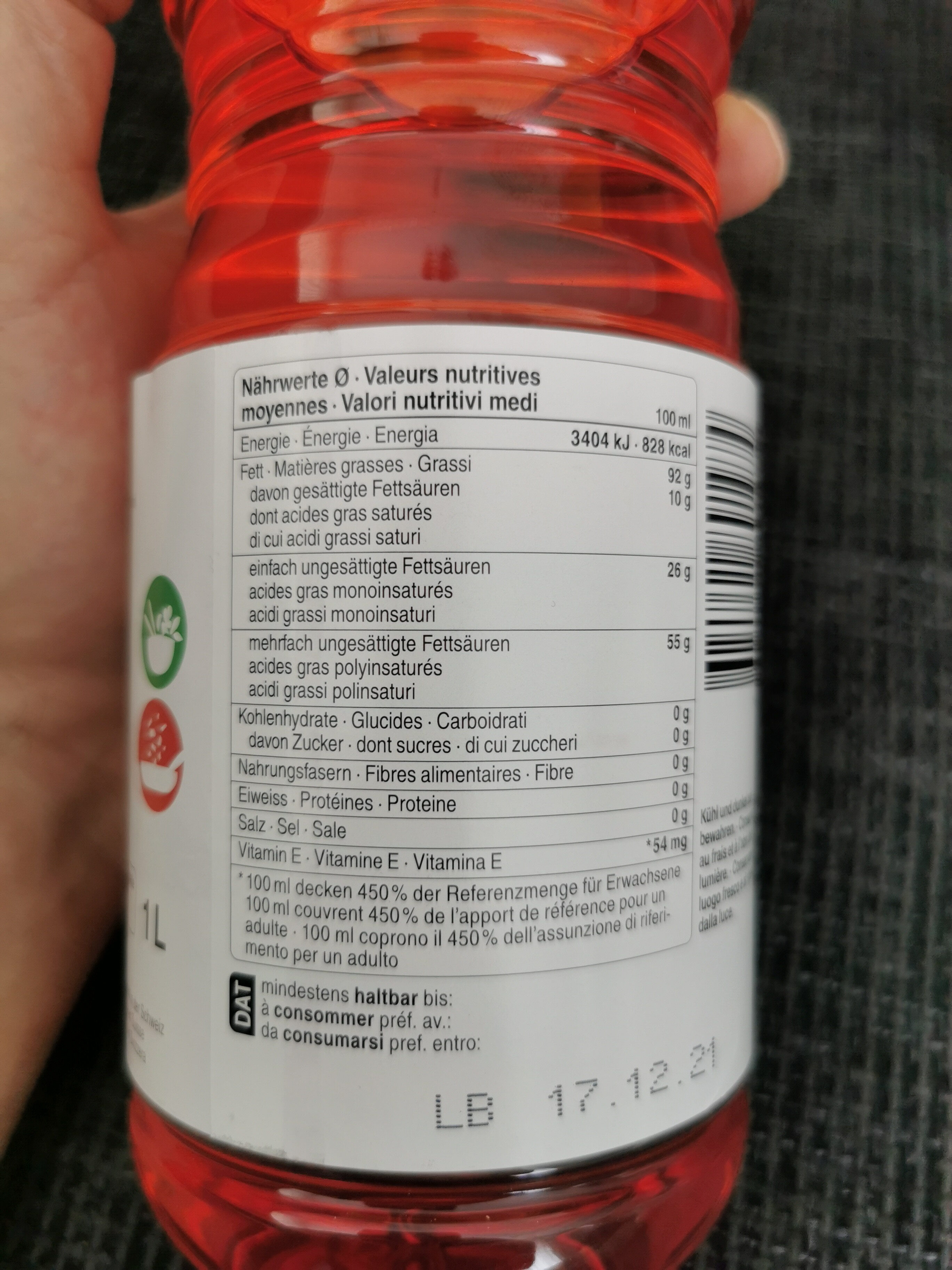 Sonnenblumenöl - Ingredienti - de