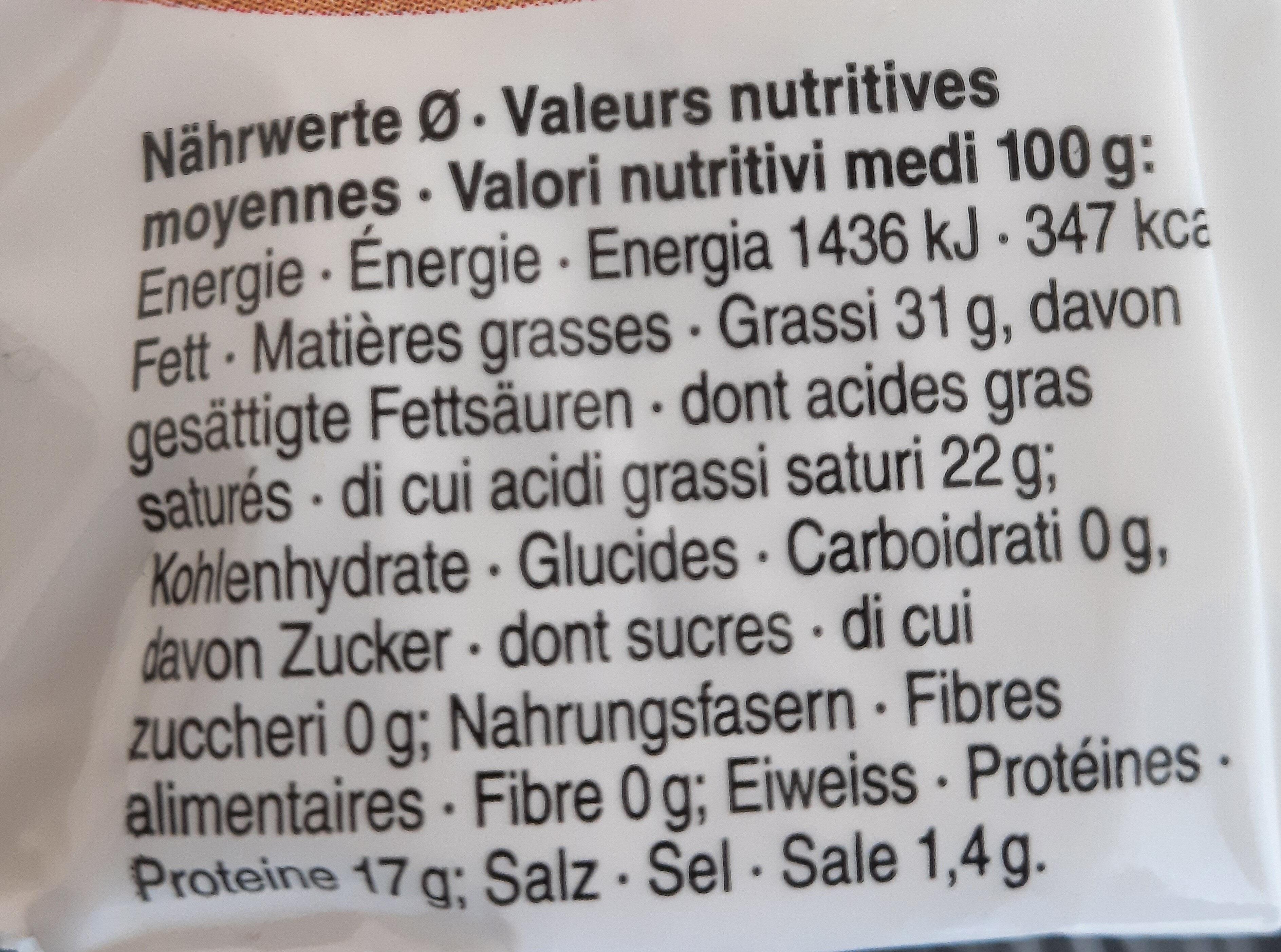 Cœur des anges - Nutrition facts - fr