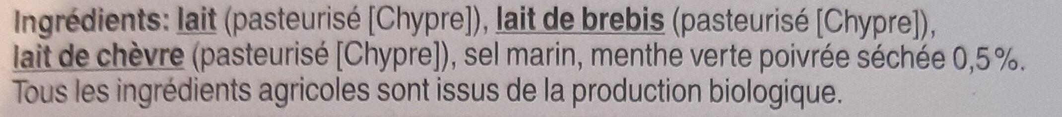 Halloumi Bio - Ingrediënten - fr