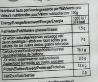 Egg Noodle - Informations nutritionnelles