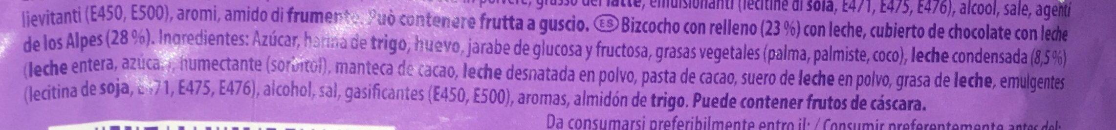 Tender Milch Leche - Inhaltsstoffe - es