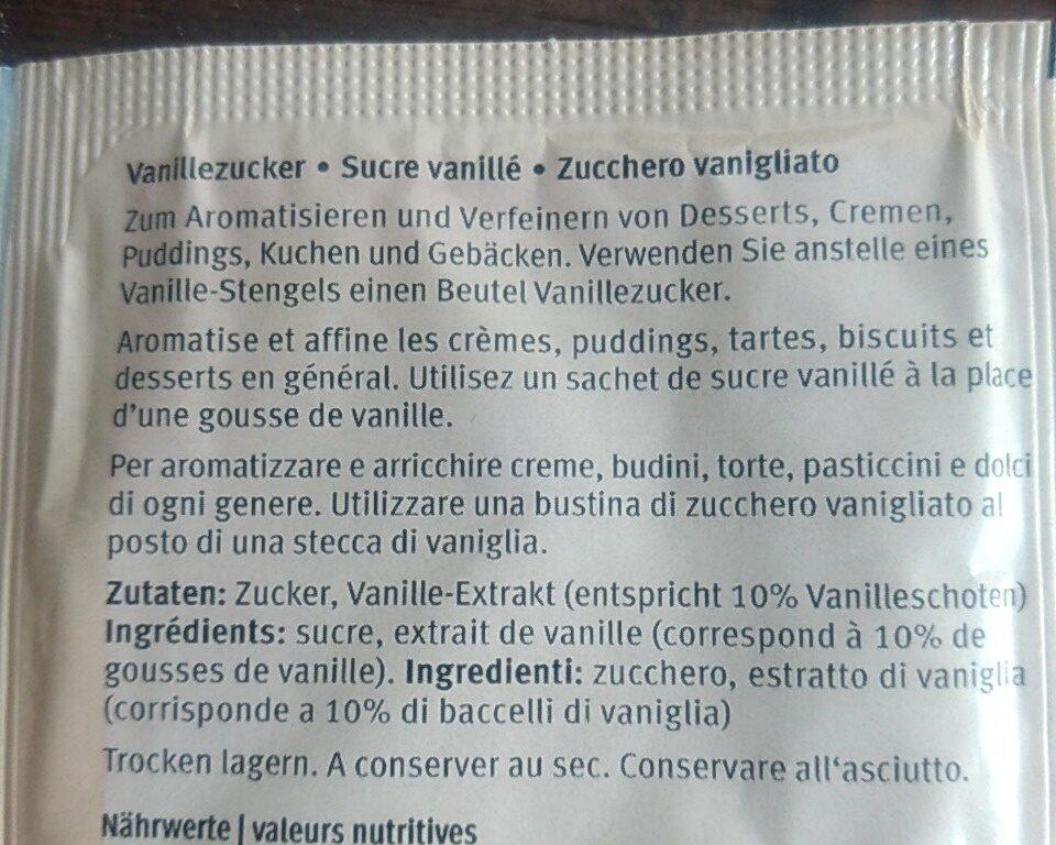 Vanillezucker - Zutaten - fr