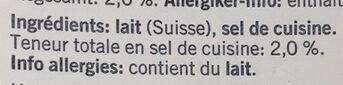 Qualité & Prix Raclette Fromage - Ingrediënten - fr