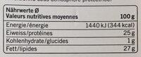 Qualité & Prix Raclette Fromage - Voedingswaarden - fr