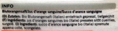 Jus d'orange sanguine - Ingrediënten - fr
