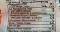 Jus d'orange sanguine - Voedingswaarden - fr