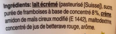Séré aux fruits Framboise - Ingrédients - fr