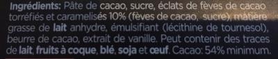 Chocolats - Ingrediënten