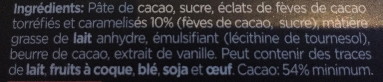 Chocolats - Ingrediënten - fr