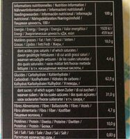 Cantuccini - Nutrition facts - fr