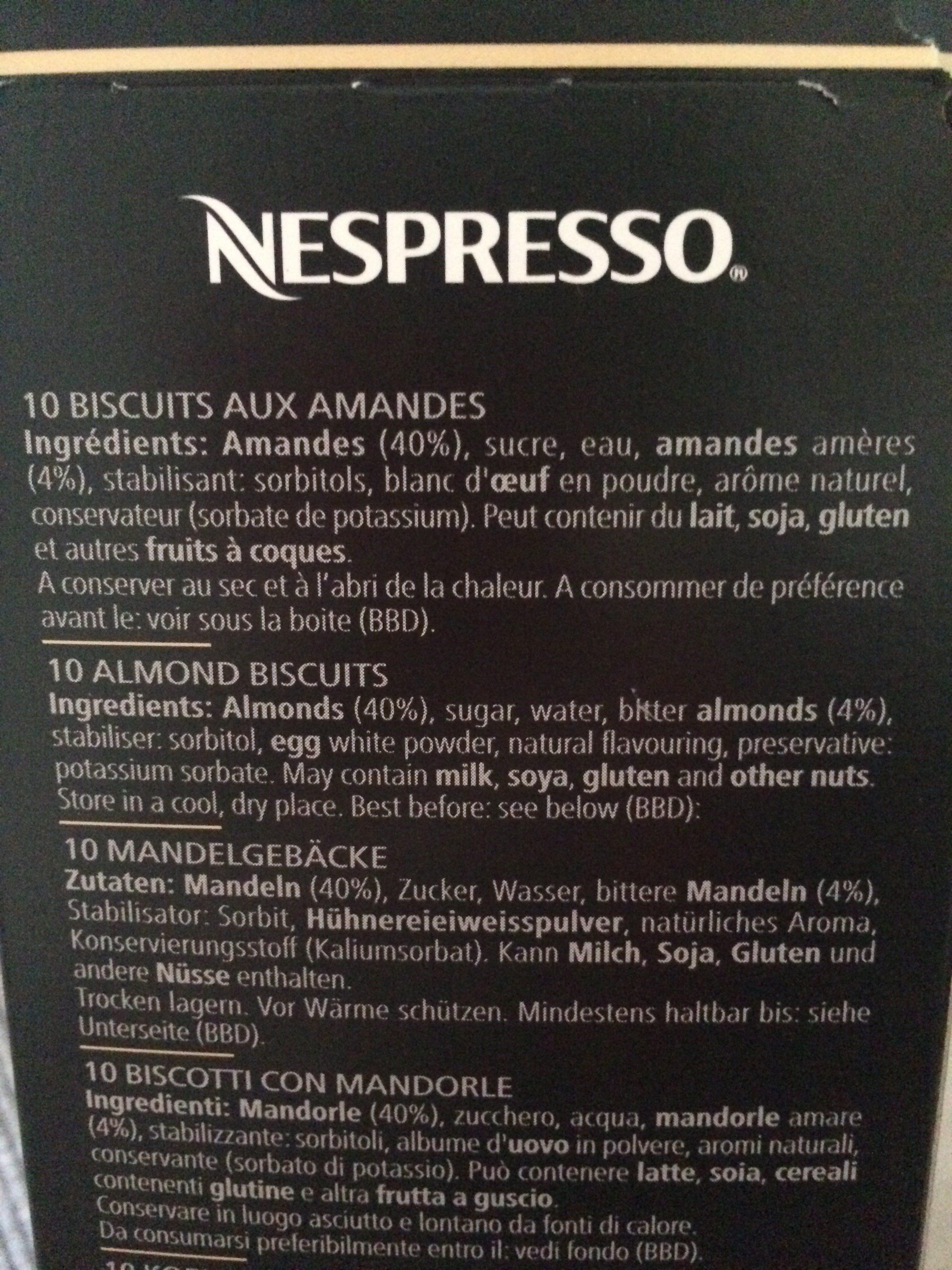 Amaretti - Ingrédients - fr