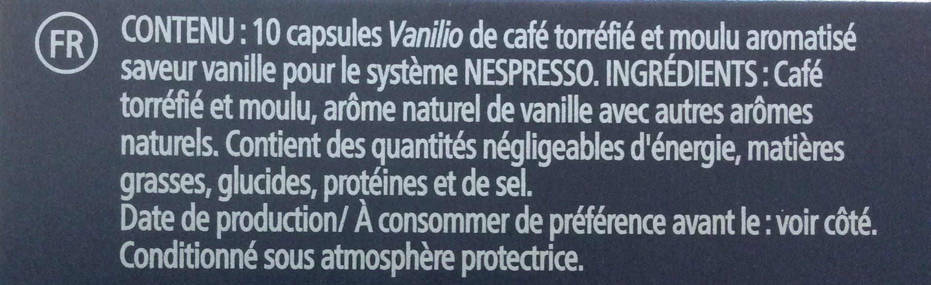 Vanilio Variations - Ingrediënten